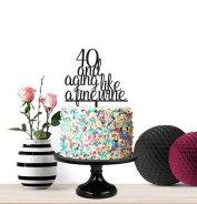 birthday cake milestone